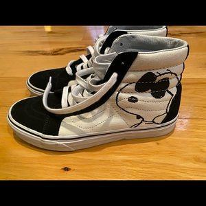 Vans Boys SK8-Hi Peanuts Sneakers size 7
